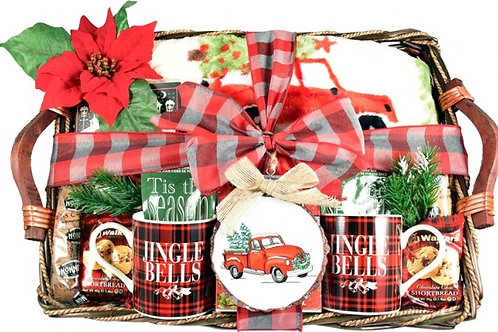 A Cozy Christmas Holiday Gift Basket