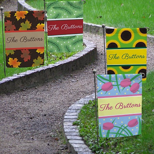 Welcome Fall Personalized with Name Garden Flag