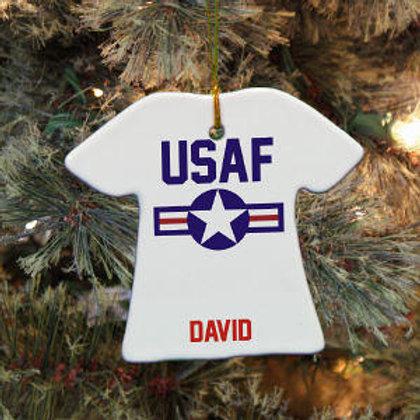 Air Force T-Shirt Ornament