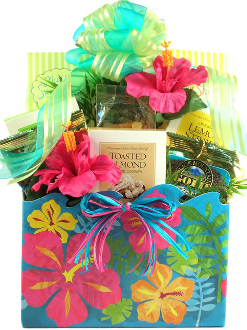 Hawaiian Gift Box Tropical Treats Arrangement