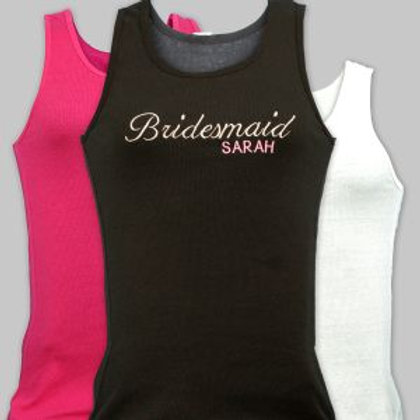 Embroidered Bridal Party Tank Top