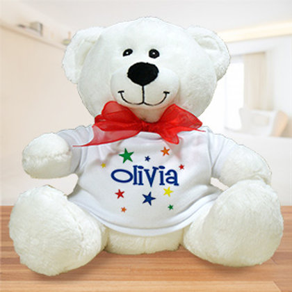 Colorful Stars Plush Personalized Teddy Bear