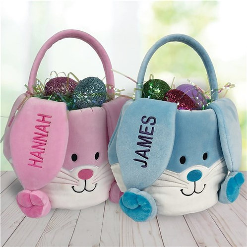 Easter Bunny Baskets Embroidered with a Name