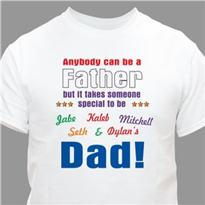 Anybody Can Be Dad Personalized T-Shirt
