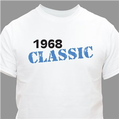Classic Personalized Birthday Year T-Shirt