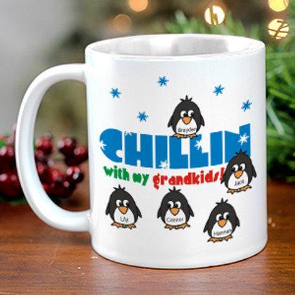 Chillin' Penguin Personalized Winter Coffee Mug