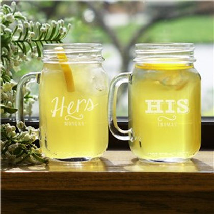 Couple Set of Mason Jars
