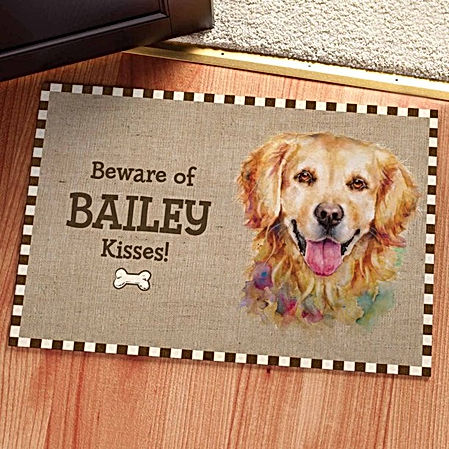 Dog Breed Personalized Doormats Graphics