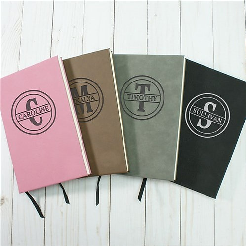 Leather Personalized Journals with a Names or Initial