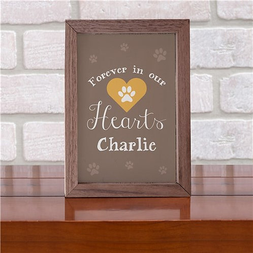 Personalized Forever In Our Hearts Whimsical Table Top Sign