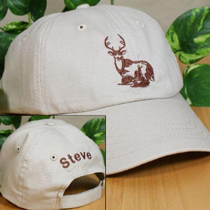 deer white hat