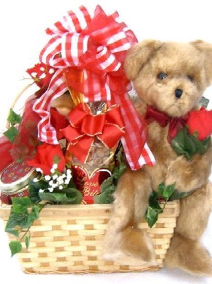 Bear Hugs Romantic Valentine Gift Basket