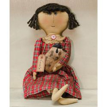 "Primitive 20.5"" Tall Grace Doll by the Hearthside Collection"