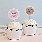 Vintage Baby Cupcake Wrappers