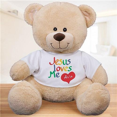 Personalized Jesus Loves Me Teddy Bear