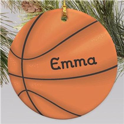 Basketball Personalized Ornament | Ceramic