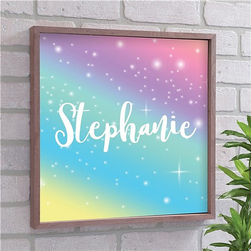 Girl's Room Personalized Wood Wall Art Frame