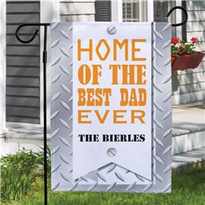 Best DAD Personalized Garden Flag