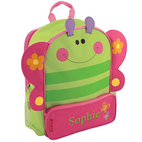 Girl Butterfly Kids Backpack Personalized with Name