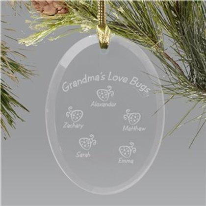 Bug Glass Oval Ornament
