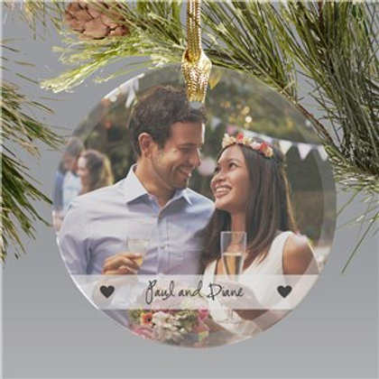 Couples Best Photo Ornament