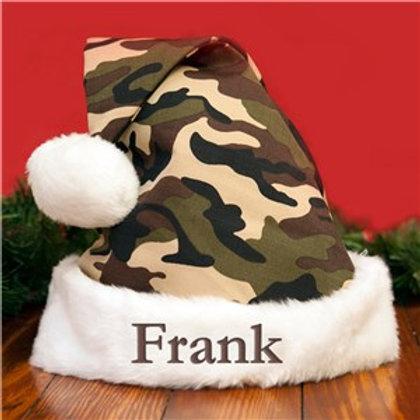 Camo Embroidered Santa hat