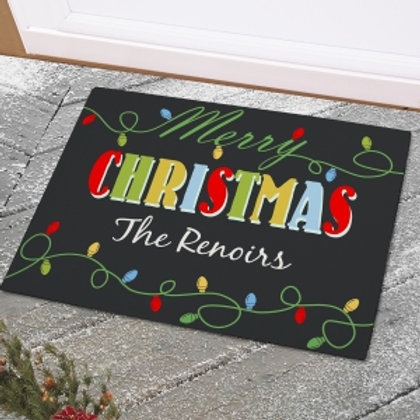 Christmas Lights Personalized Doormats