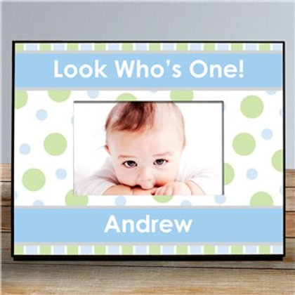 Boy 1st Birthday 8 x 10 Personalized Printed Picture Frame