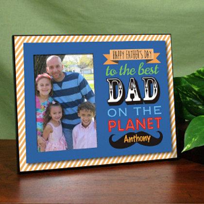 Best Dad Printed Frame