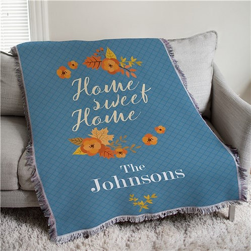 Home Sweet Home Throw Blanket Personalized