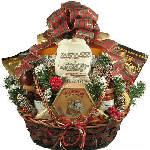 Country Over-Sized Large Deluxe Christmas Basket