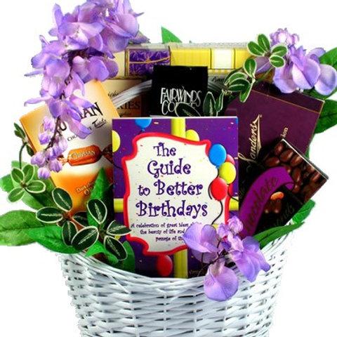 Birthday Surprise Birthday White Wicker Gift Basket