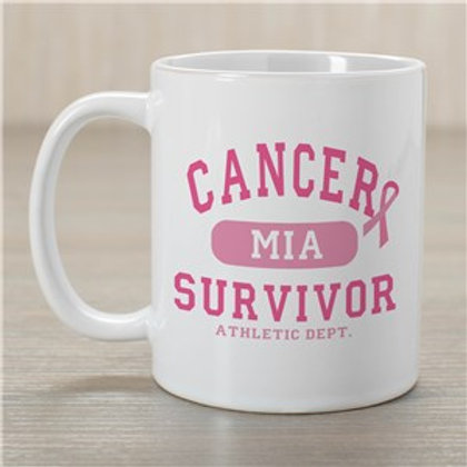 Cancer Survivor Athletic Dept - Breast Cancer Awareness Personalized Coffee Mug