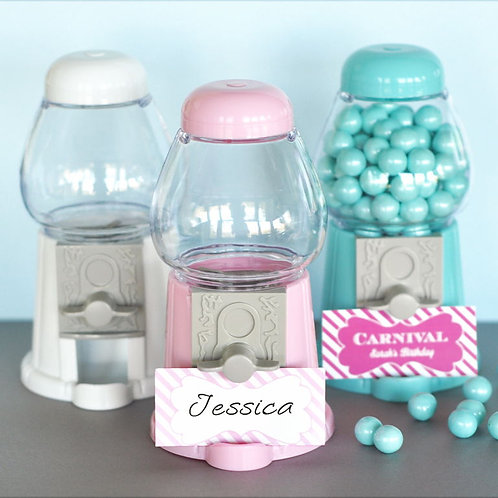 Mini Gumball Machine Place Card Holder