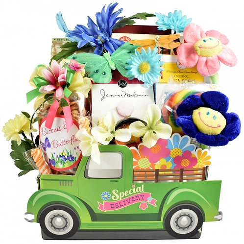 A Special Delivery Gift Truck Basket for Her