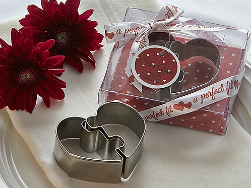 A Perfect For Heart Puzzle Cooke Cutter Favor