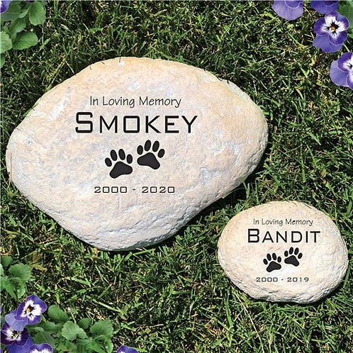 Engraved Sympathy Pet Memorial Large Garden Stone
