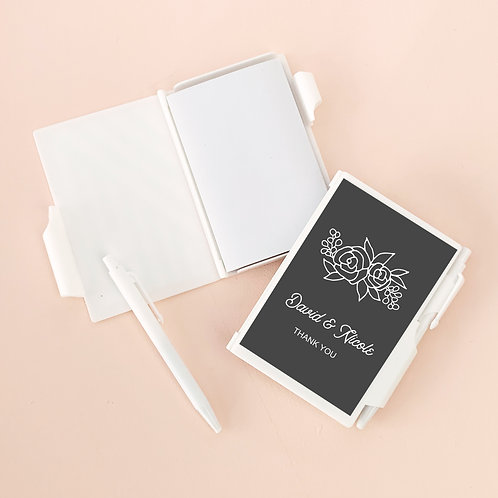 Floral Silhouette Notebook Favors (Minimum Qty 24)