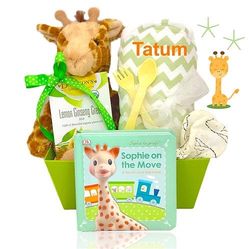 Baby Giraffe Personalized Gift Basket