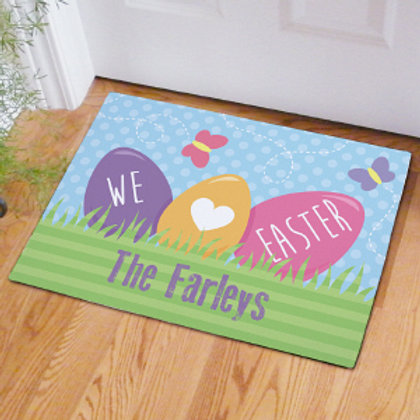 Easter Personalized Family Name Doormat