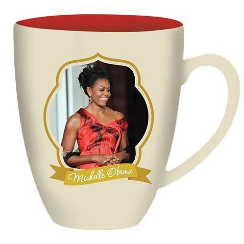 Inspirational Michelle Obama Black Art by Nicole Kobi 15oz Coffee Mugs