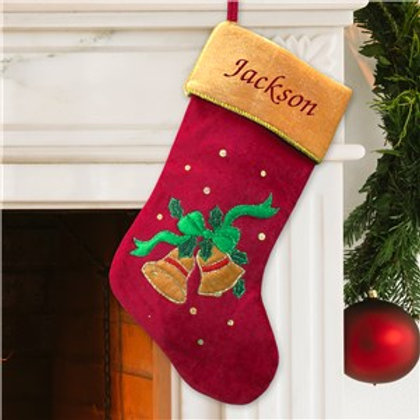 Bell Christmas Stocking