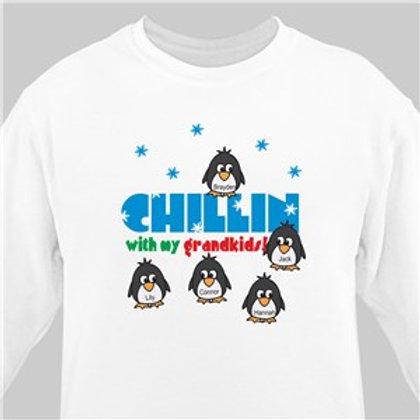 Chillin with my Penguins Personalized Sweatshirt