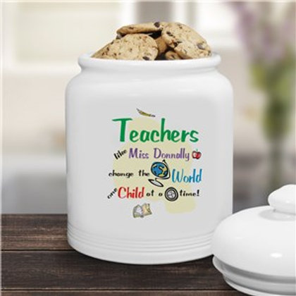 Change The World Ceramic Cookie Jar