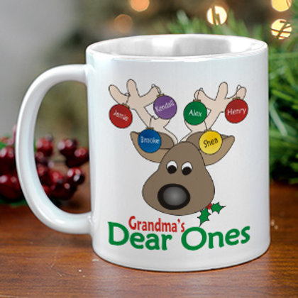Dear Ones Personalized Christmas Coffee Mug