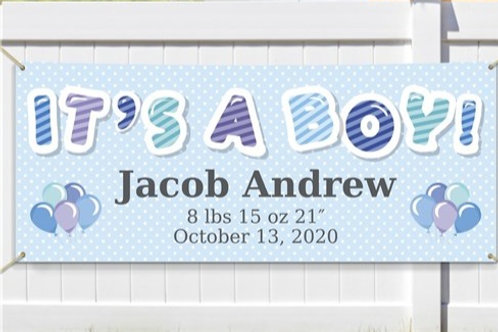 Personalized It's a Boy Banner