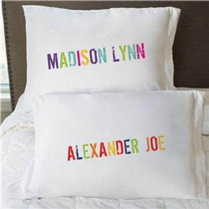 Colorful Name Pillowcase