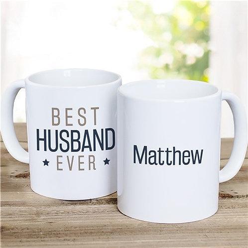 Best Husband Ever Personalized Ceramic Mug