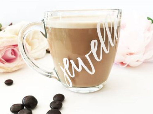 Personalized Glass Coffee Mug