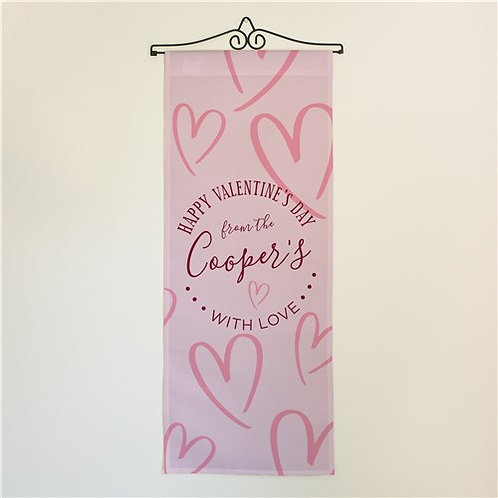 Personalized Happy Valentines Day Wall Hanging